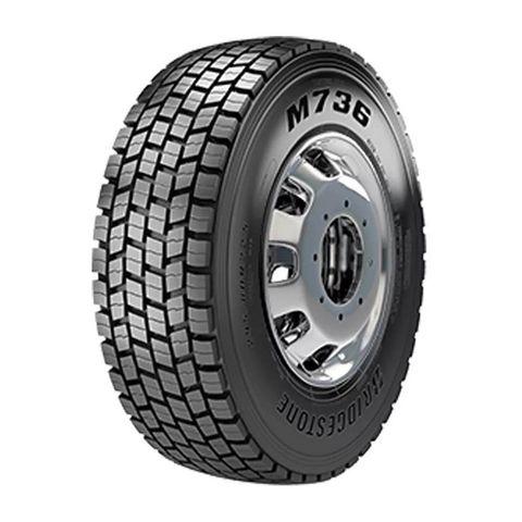 Pneu-Bridgestone-aro-225--295-80-R225-152-148L---M736-16L-BORRACHUDO